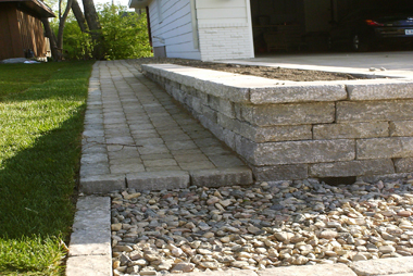 Semi-Exposed Pavers