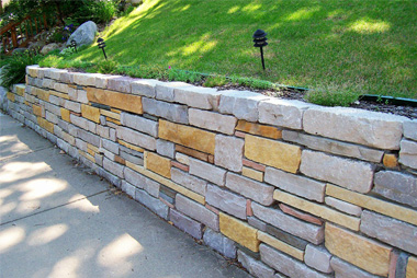 stone retaining wall Virginia